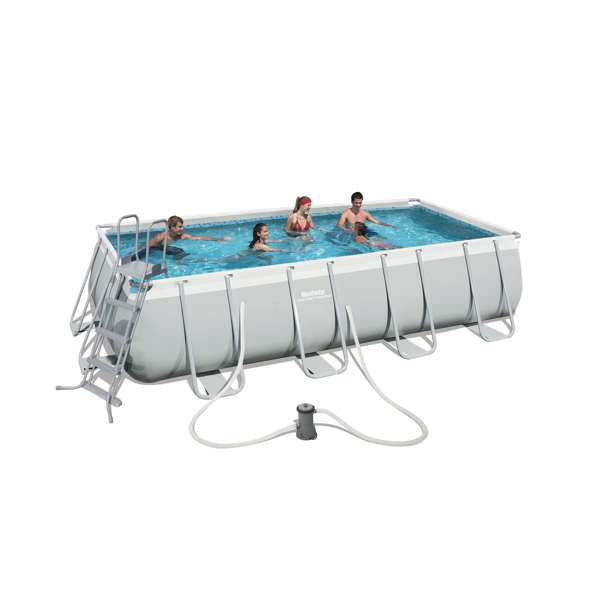 Piscina estructural bestway power steel rectangular 13177l - Montaje piscina bestway ...