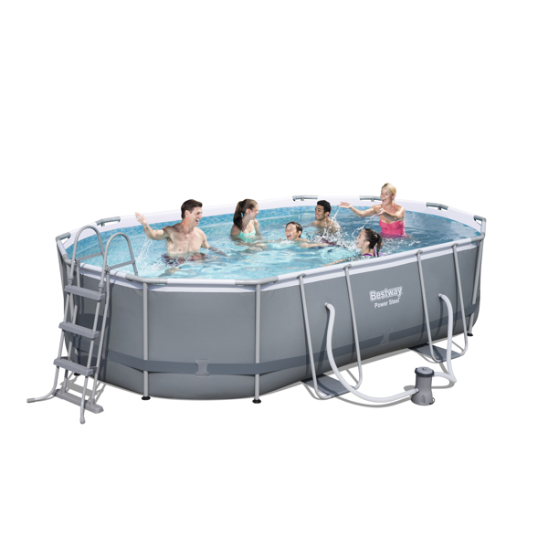 piscina estructural bestway power steel oval 10949l