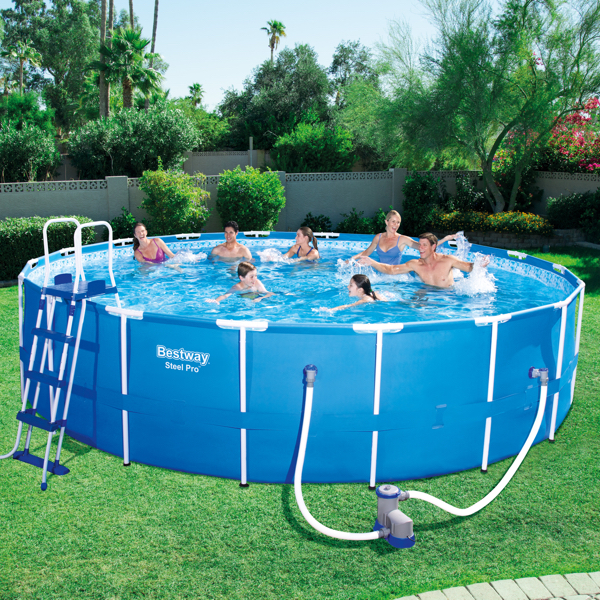 Piscina estructural bestway steel pro lts for Piscina inflable bestway