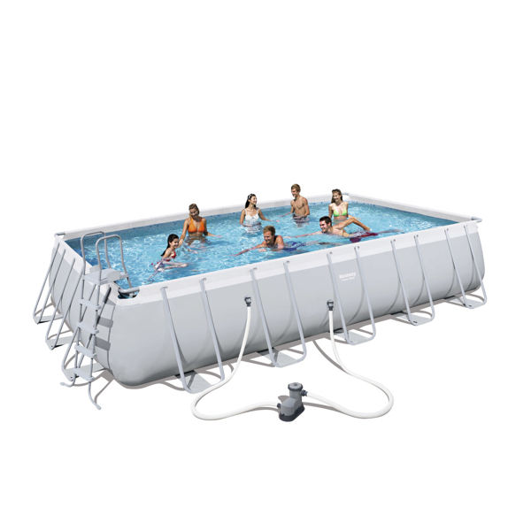 Piscina estructural bestway power steel rectangular - Montaje piscina bestway ...